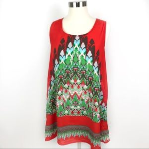 Hot & Delicious Sleeveless Shift Dress, EUC. Large